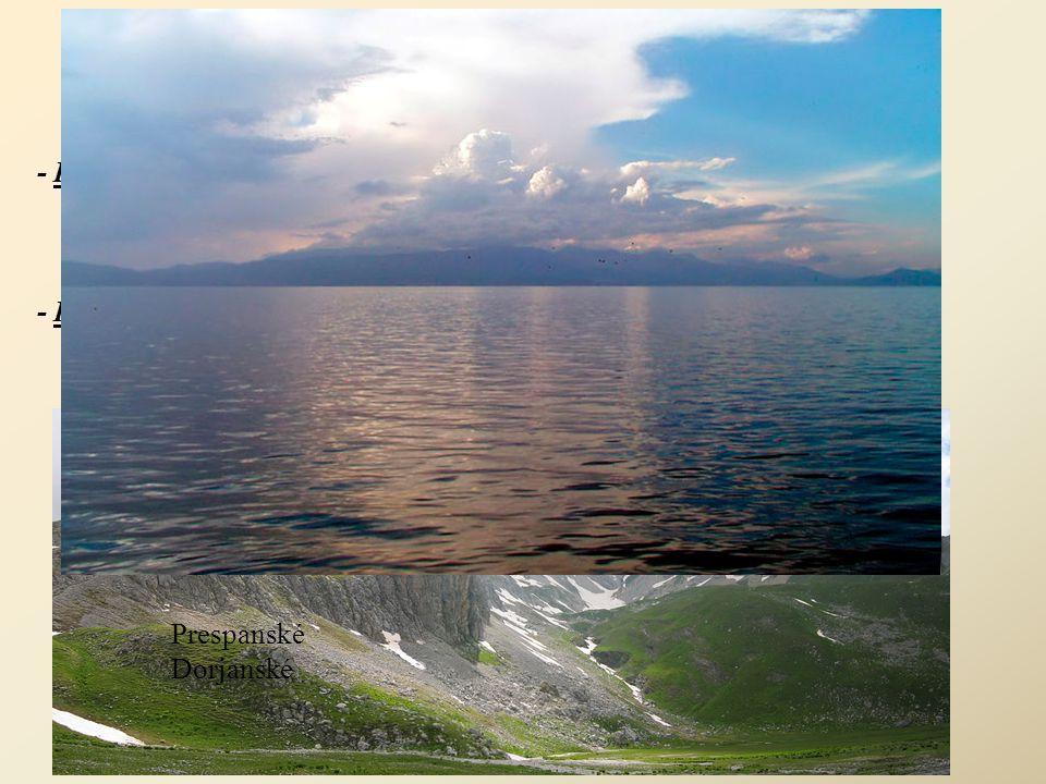 Географија (Geografie) - Klima: kontinentální, v údolí řeky Vardar středomořské suchá léta a podzimy studené zimy se silnými sněhovými srážkami - Povr