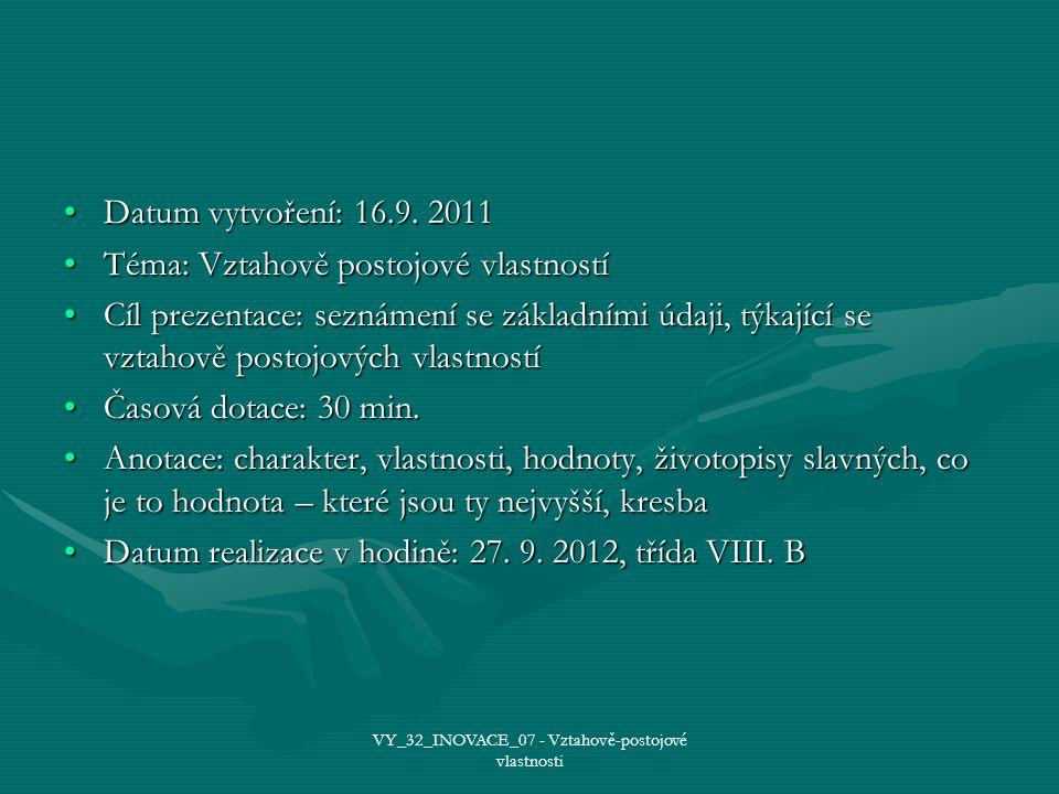 Datum vytvoření: 16.9. 2011Datum vytvoření: 16.9.
