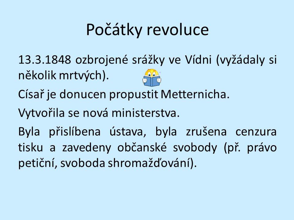 Poměrně velikou samostatnost získaly Uhry – vytvořena uherská vláda Čechům panovník zaručil rovnost češtiny s němčinou, povolil svolat nový sněm do Prahy.