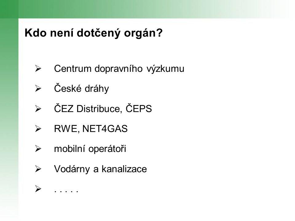 Kdo není dotčený orgán.