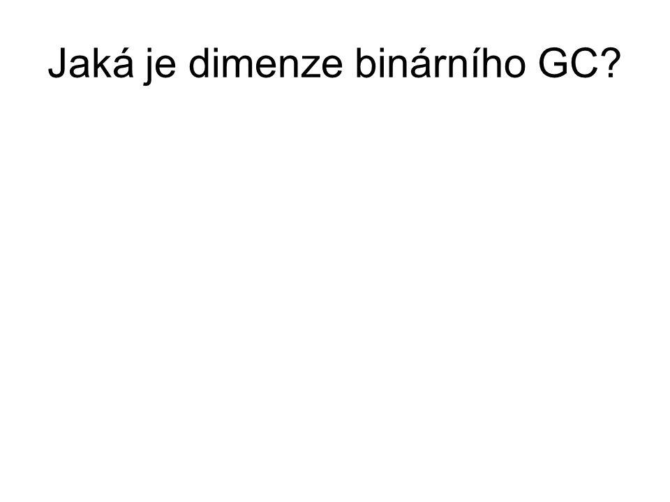 Jaká je dimenze binárního GC?