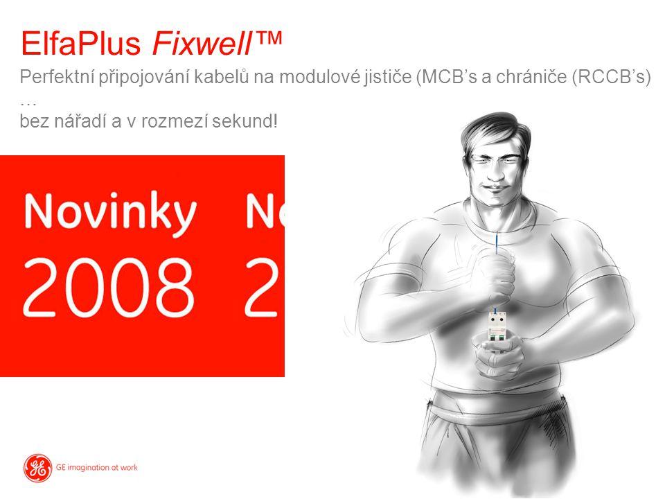 ElfaPlus Fixwell™ Perfektní připojování kabelů na modulové jističe (MCB's a chrániče (RCCB's) … bez nářadí a v rozmezí sekund!