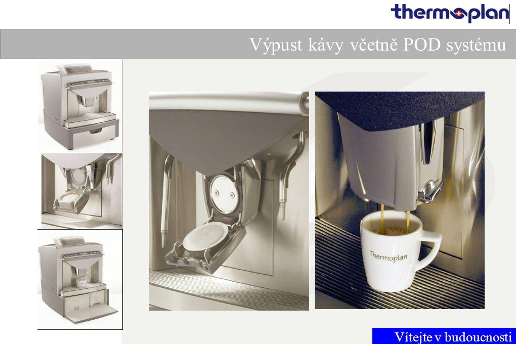 Vítejte v budoucnosti Výpust kávy včetně POD systému