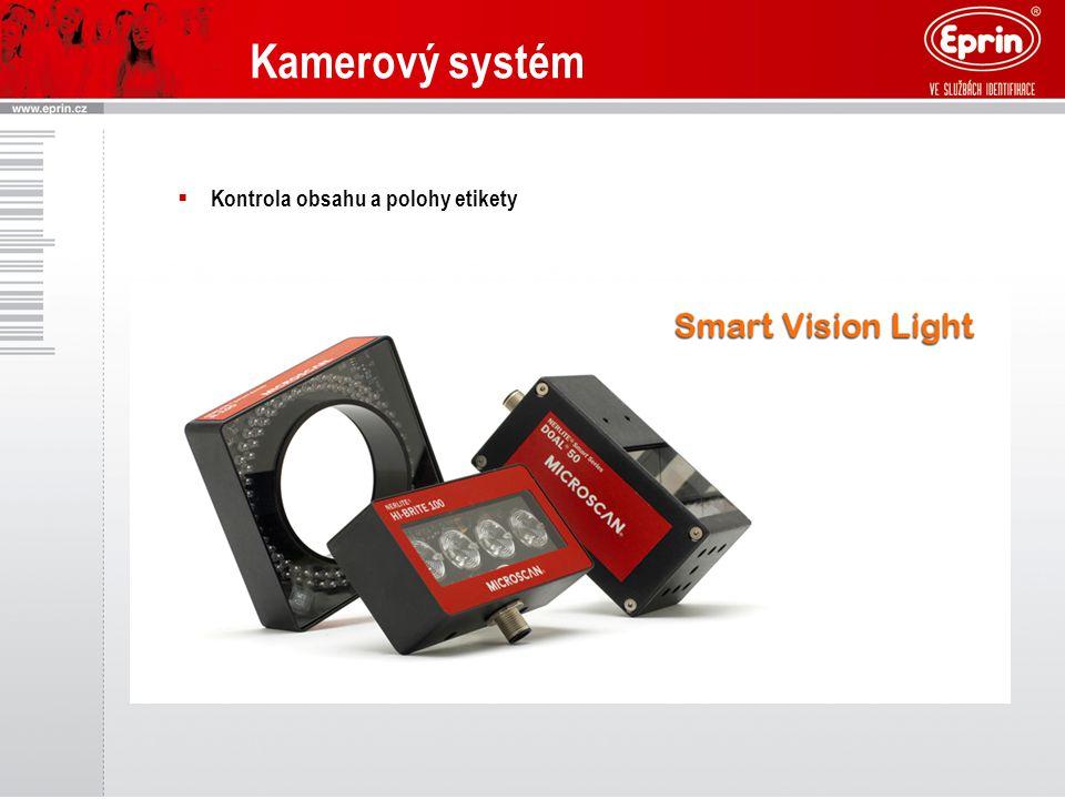  Kontrola obsahu a polohy etikety Kamerový systém