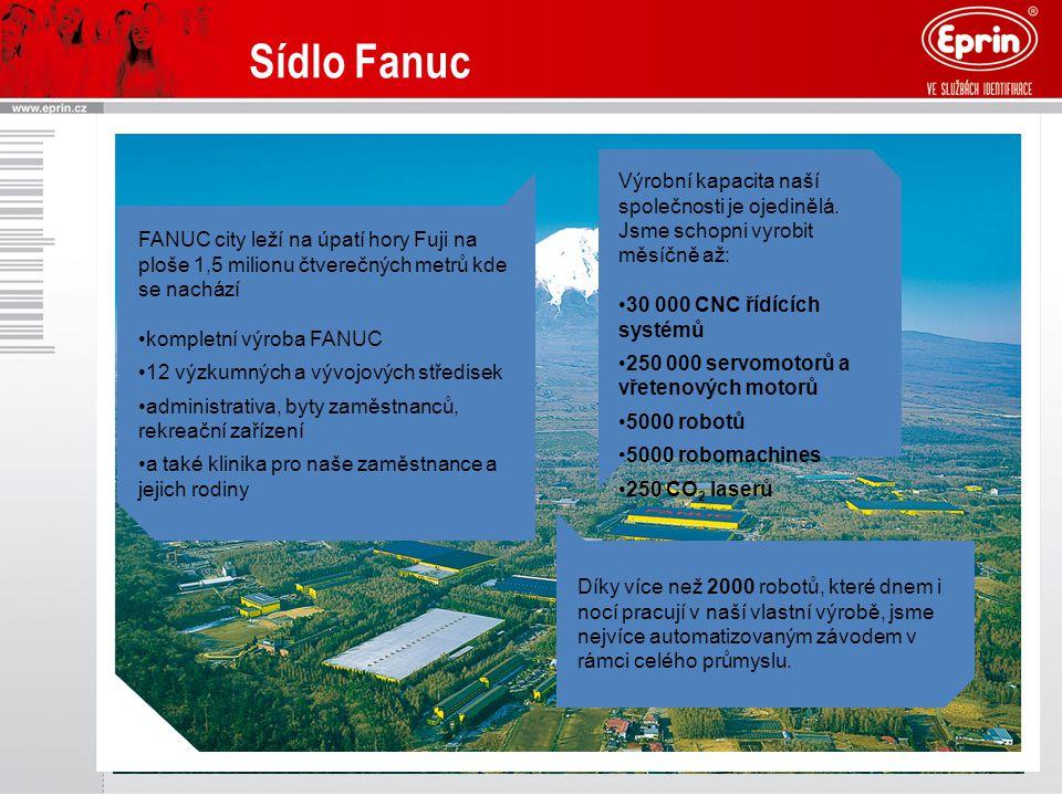 FANUC city leží na úpatí hory Fuji na ploše 1,5 milionu čtverečných metrů kde se nachází kompletní výroba FANUC 12 výzkumných a vývojových středisek a