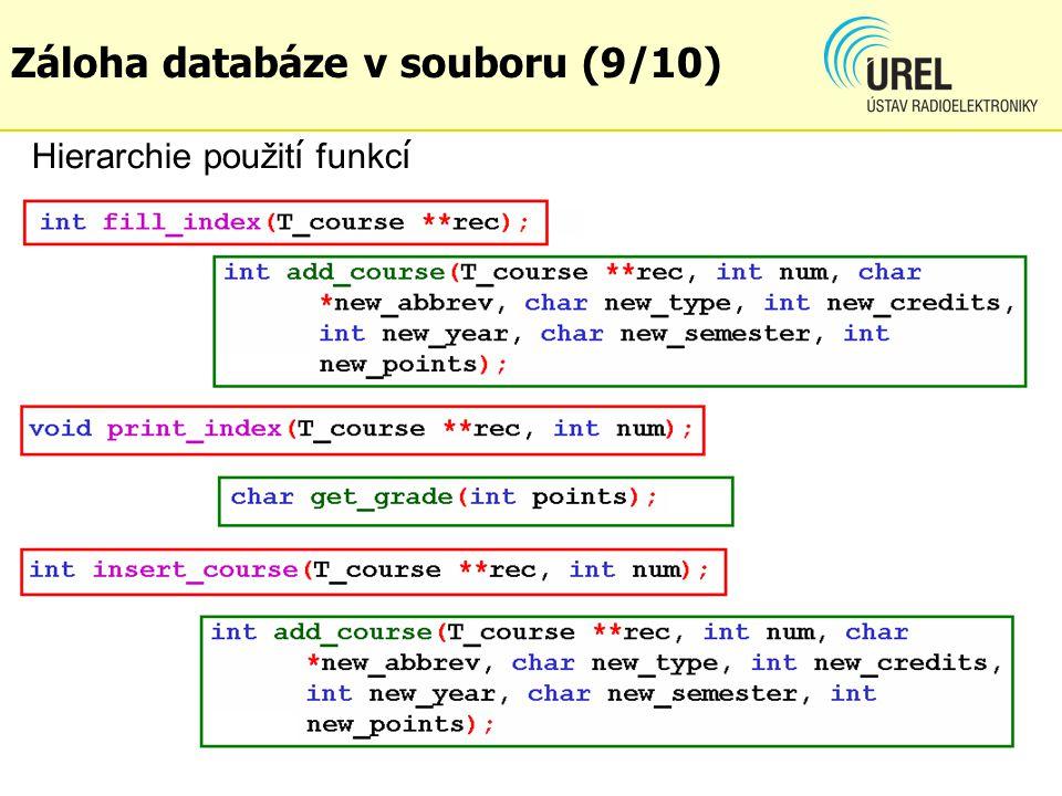 dgf Hierarchie použit í funkc í Záloha databáze v souboru (9/10)