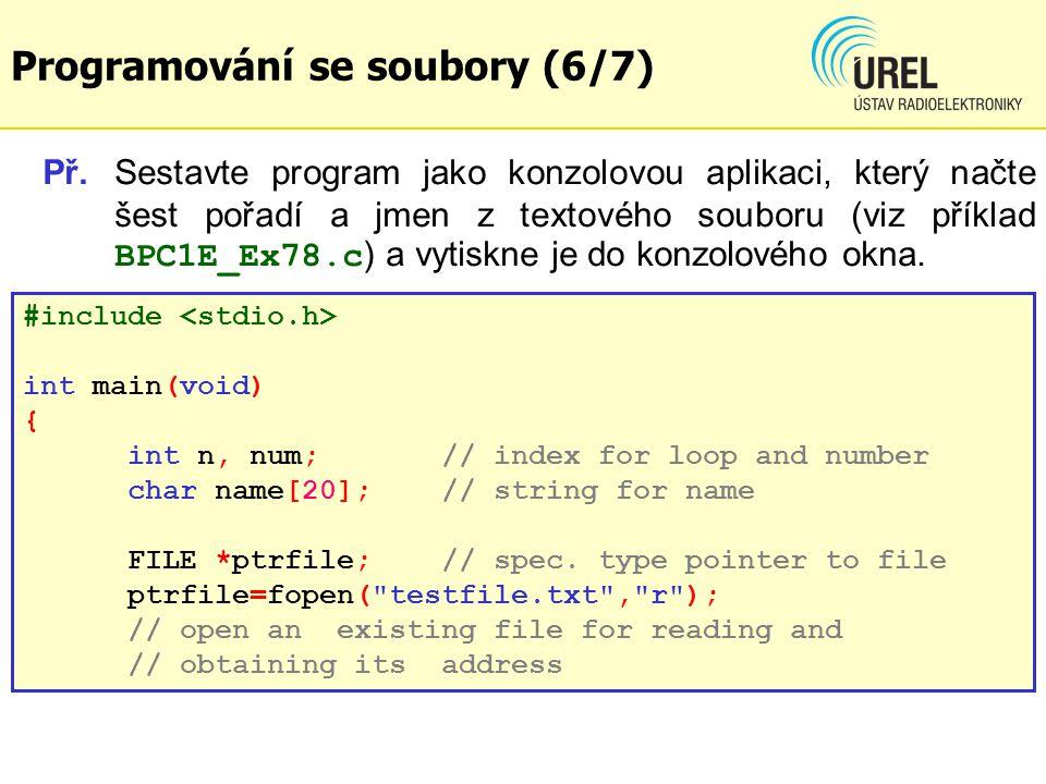 Hierarchie použit í funkc í Záloha databáze v souboru (10/10) Příklad: BPC1E_Ex80.c