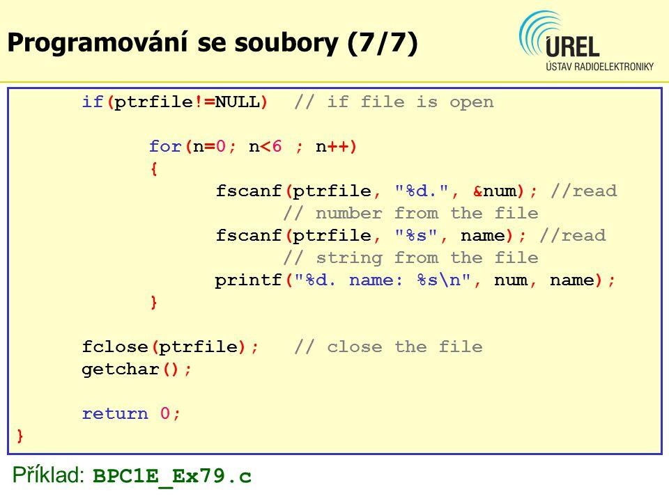 Záloha databáze v souboru (1/10) Př.