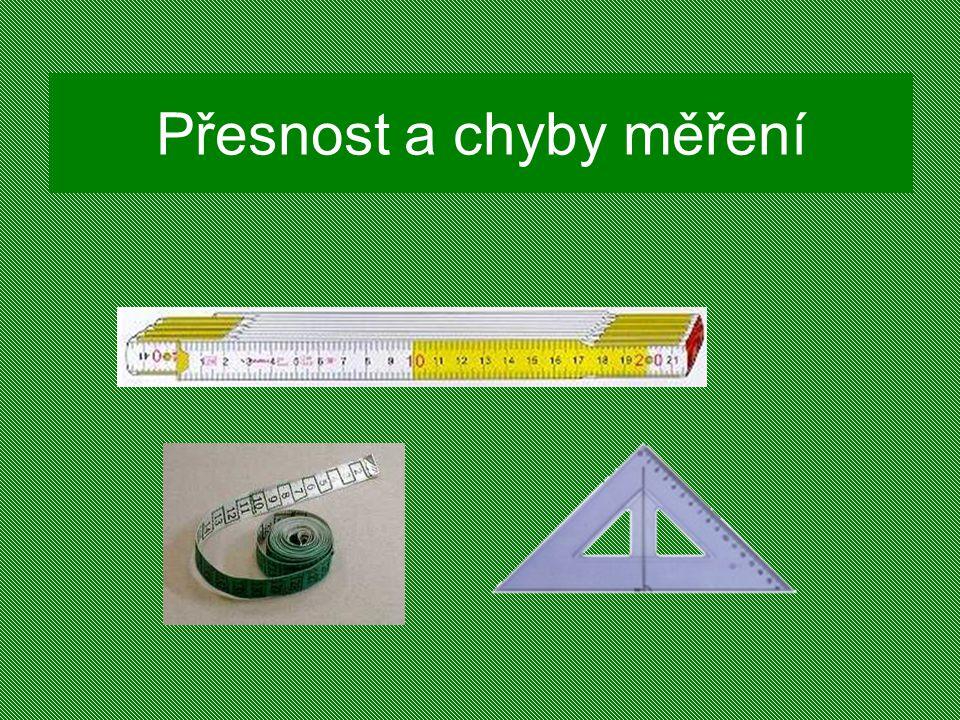 Přesnost a chyby měření