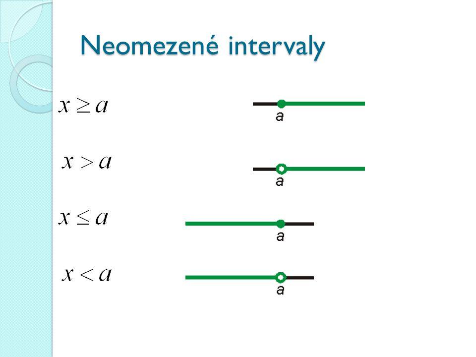 Neomezené intervaly