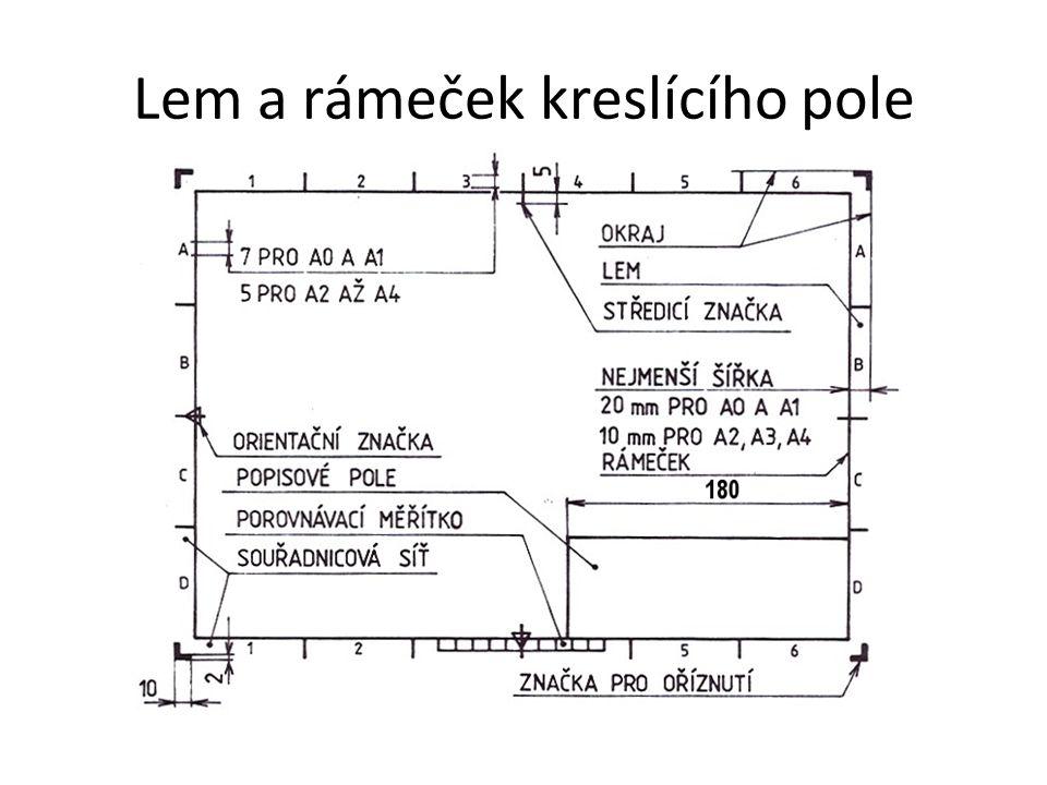 Lem a rámeček kreslícího pole