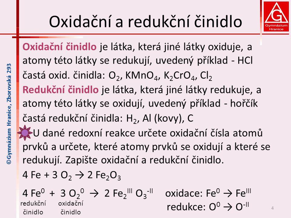Redoxní vlastnosti kovů -kovy se liší svou reaktivitou -redoxní reakce probíhají u kovů různou rychlostí -ruský chemik Nikolaj Nikolajevič Beketov vytvořil řadu kovů - Beketovova řada kovů – uspořádání kovů podle jejich oxidačně-redukčních vlastností a podle reaktivity (od nejreaktivnějších po nejméně reaktivní kovy, mezi nimi tvoří hranici vodík- i když není kov) 5 ©Gymnázium Hranice, Zborovská 293 Nikolaj Nikolajevič Beketov 2