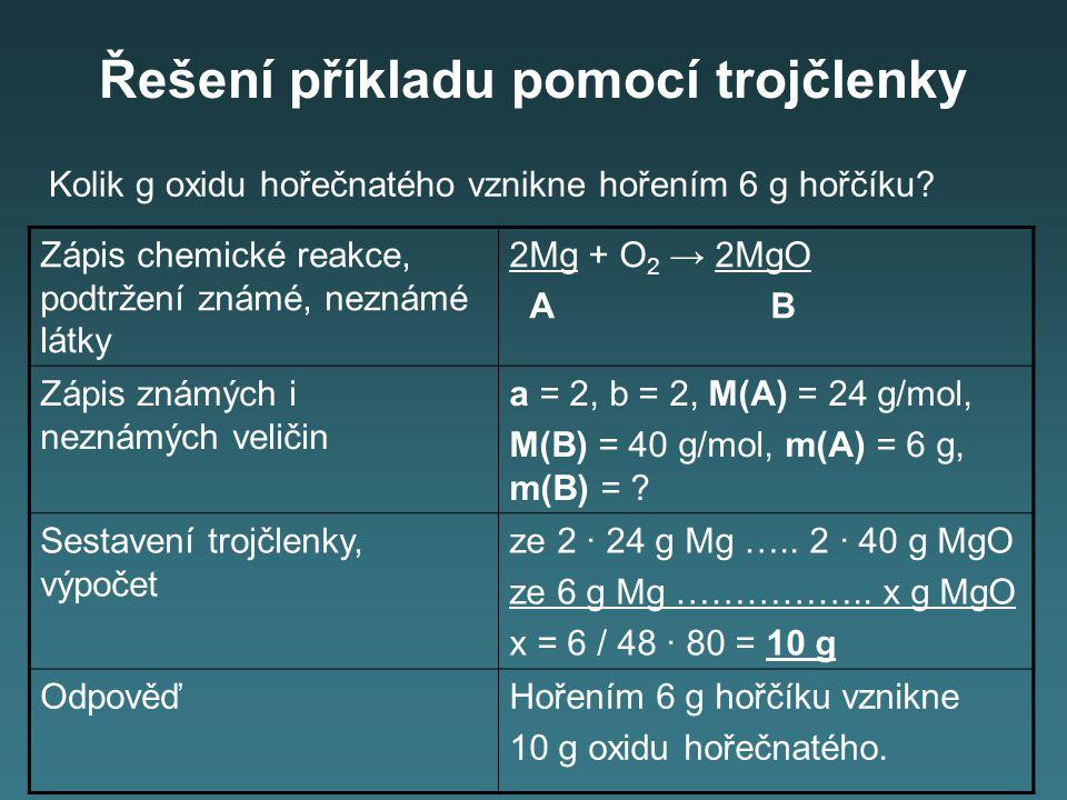 Úkol 3: Příklady k procvičení: Kolik g NH 3 vznikne reakcí 2,8 g dusíku s vodíkem.