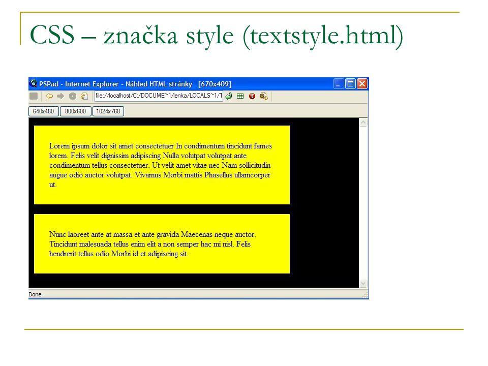 CSS – značka style (textstyle.html)