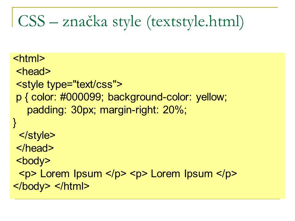 p { color: #000099; background-color: yellow; padding: 30px; margin-right: 20%; } Lorem Ipsum Lorem Ipsum