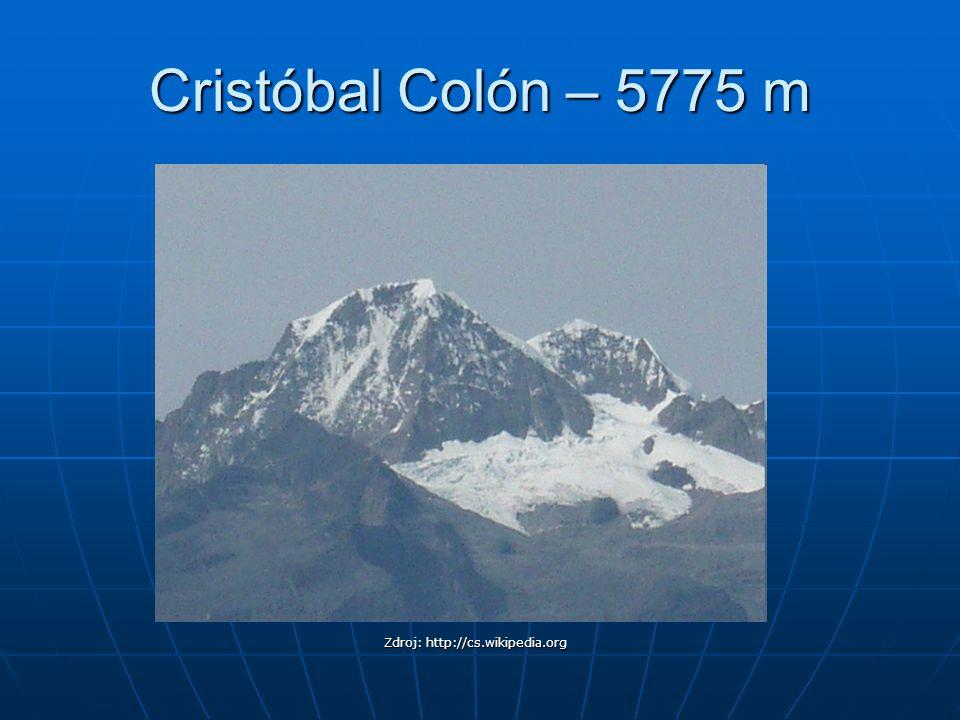 Cristóbal Colón – 5775 m Zdroj: http://cs.wikipedia.org