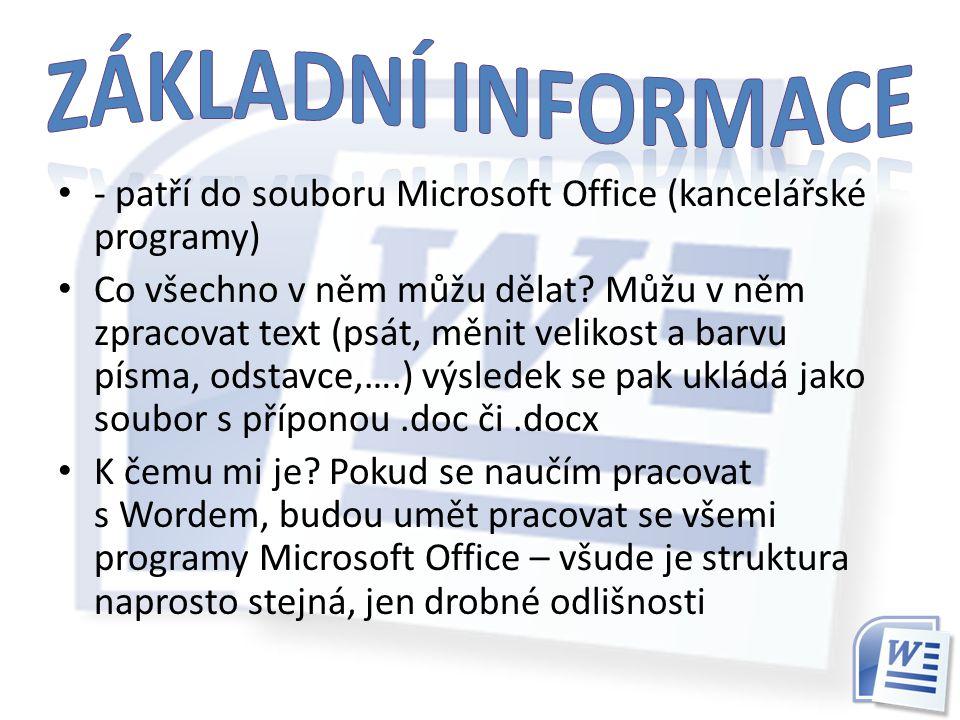 - patří do souboru Microsoft Office (kancelářské programy) Co všechno v něm můžu dělat.