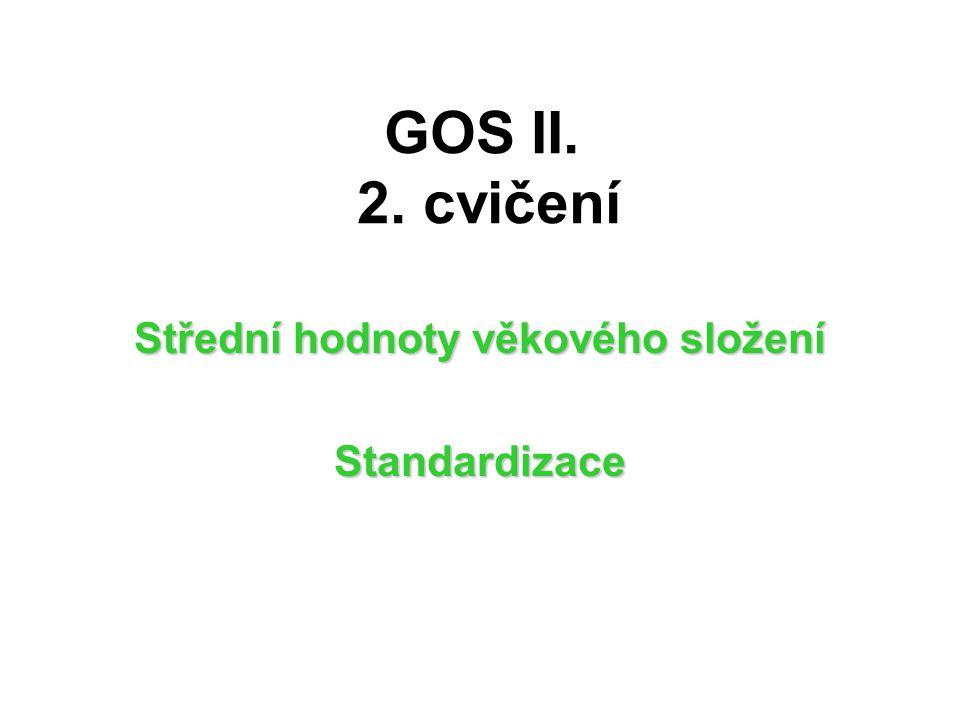 GOS II. 2. cvičení Střední hodnoty věkového složení Standardizace