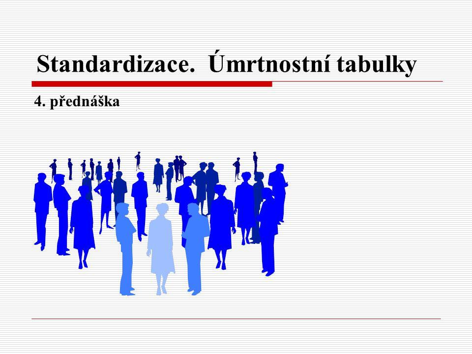 Standardizace. Úmrtnostní tabulky 4. přednáška