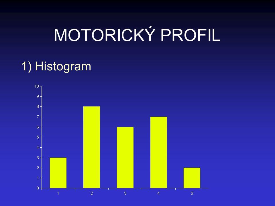 MOTORICKÝ PROFIL 1) Histogram