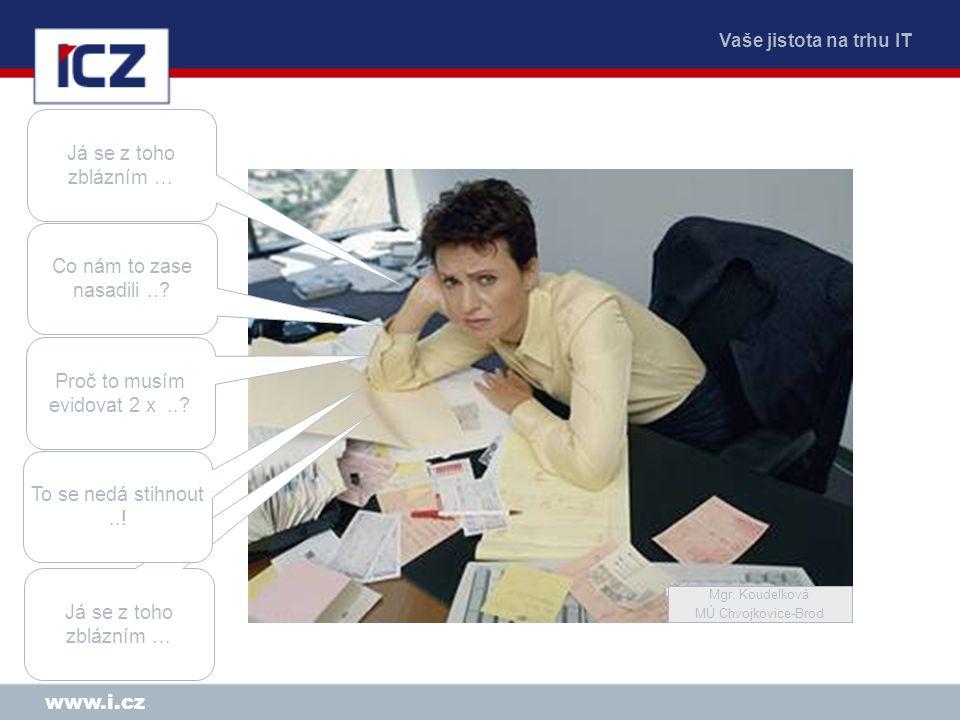 Vaše jistota na trhu IT www.i.cz Proč nejsou systémy integrovány .