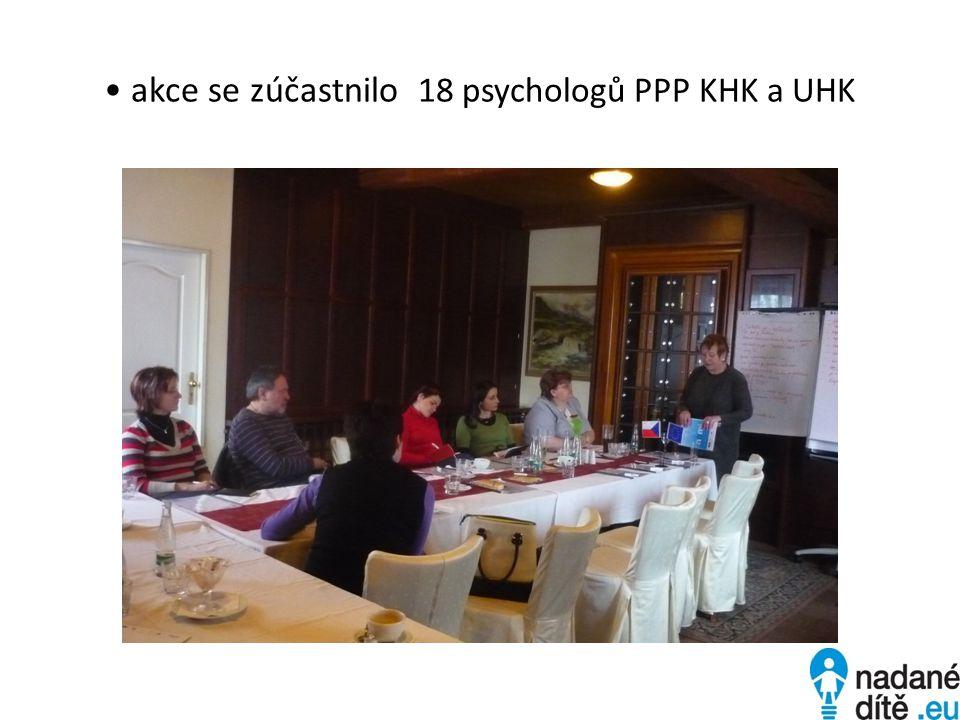 akce se zúčastnilo 18 psychologů PPP KHK a UHK