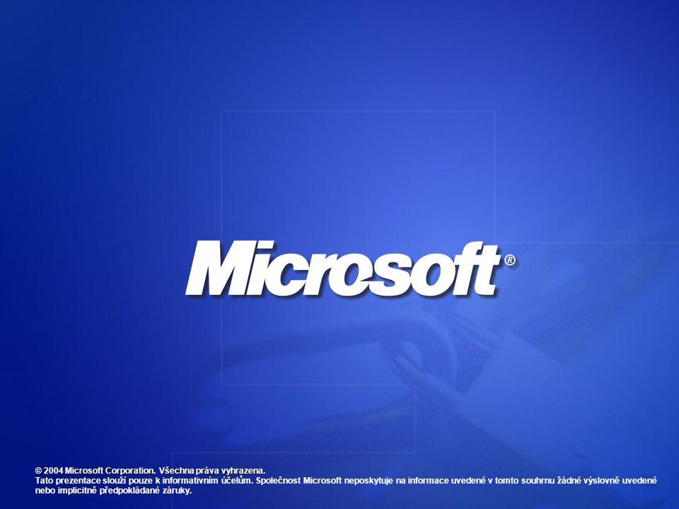 © 2004 Microsoft Corporation.Všechna práva vyhrazena.