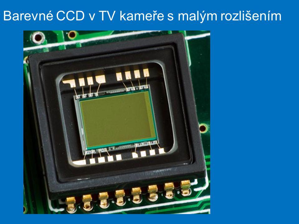 Barevné CCD v TV kameře s malým rozlišením