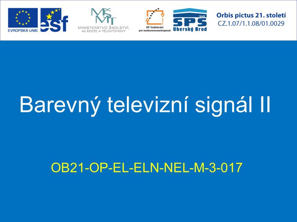 Barevný TV signál