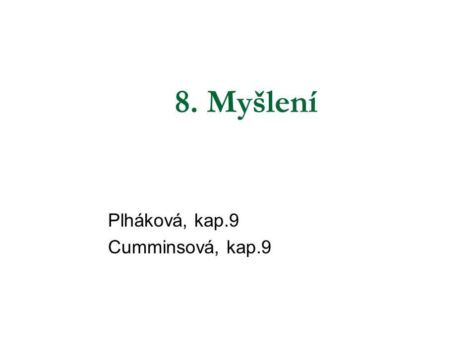 8. Myšlení Plháková, kap.9 Cumminsová, kap.9