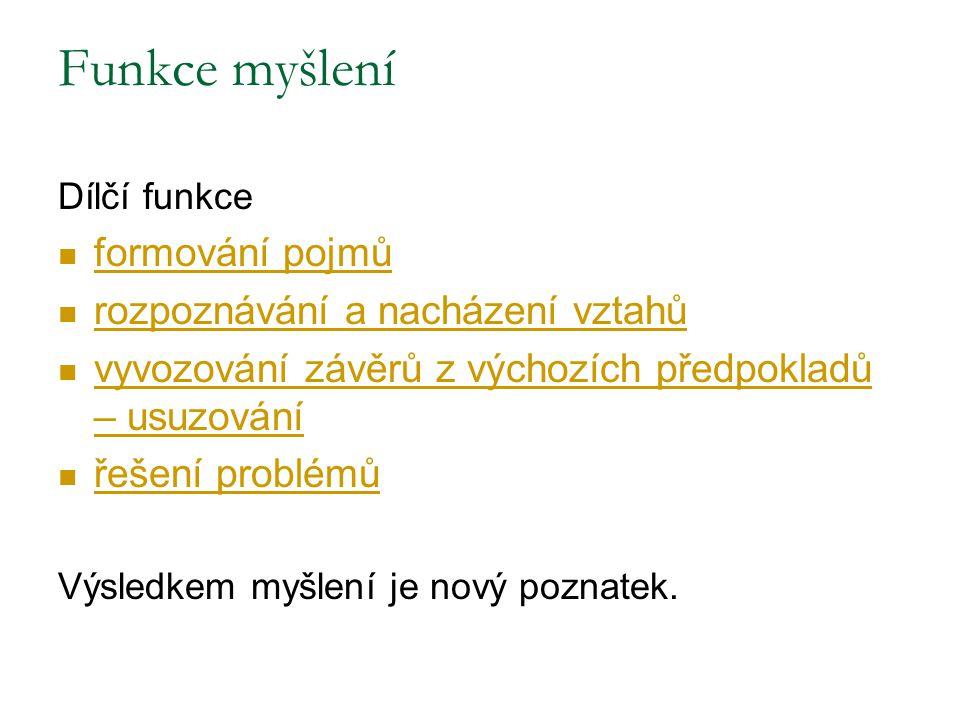 Pojem = soubor vlastností příslušející určité skupině objektů (většinou verbální znak-slovo, příp.