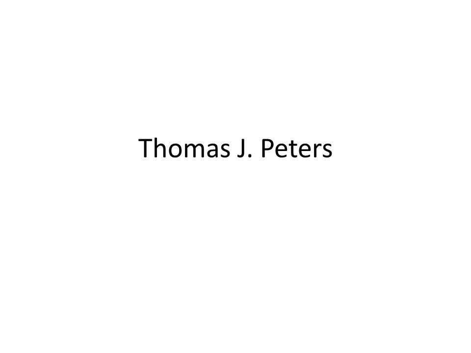 Thomas J. Peters