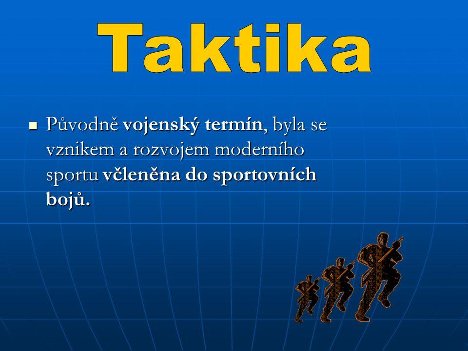 Původně vojenský termín, byla se vznikem a rozvojem moderního sportu včleněna do sportovních bojů. Původně vojenský termín, byla se vznikem a rozvojem