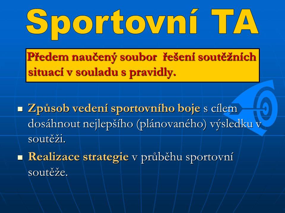 Pro úspěšné využívání naučené TD je potřeba, aby ji sportovci přijali jako vhodnou.