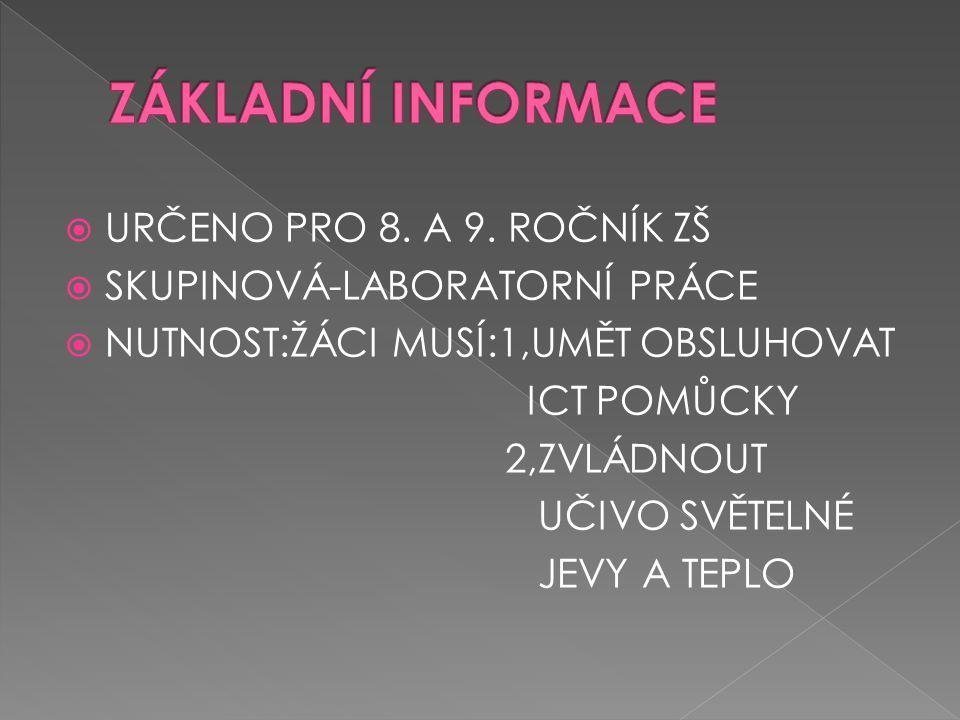  URČENO PRO 8. A 9.