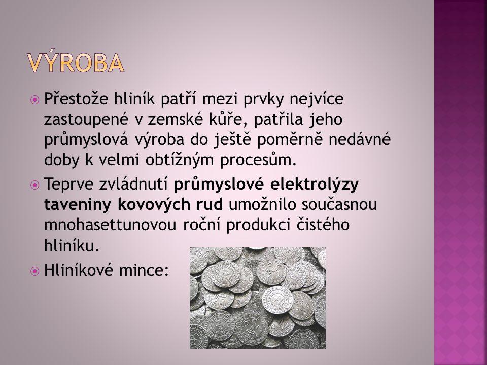 Vyrábějí se z něj např.některé drobné mince, ale i běžné kuchyňské nádobí a příbory.