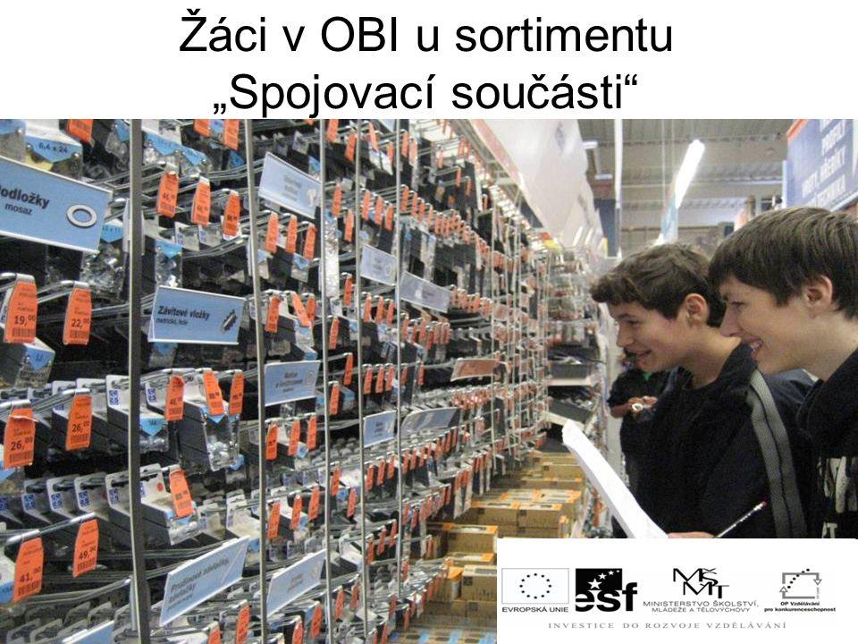 """Žáci v OBI u sortimentu """"Spojovací součásti"""""""