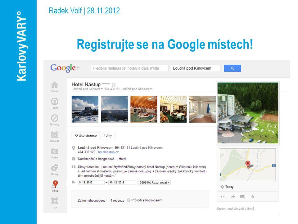 Registrujte se na Google místech!