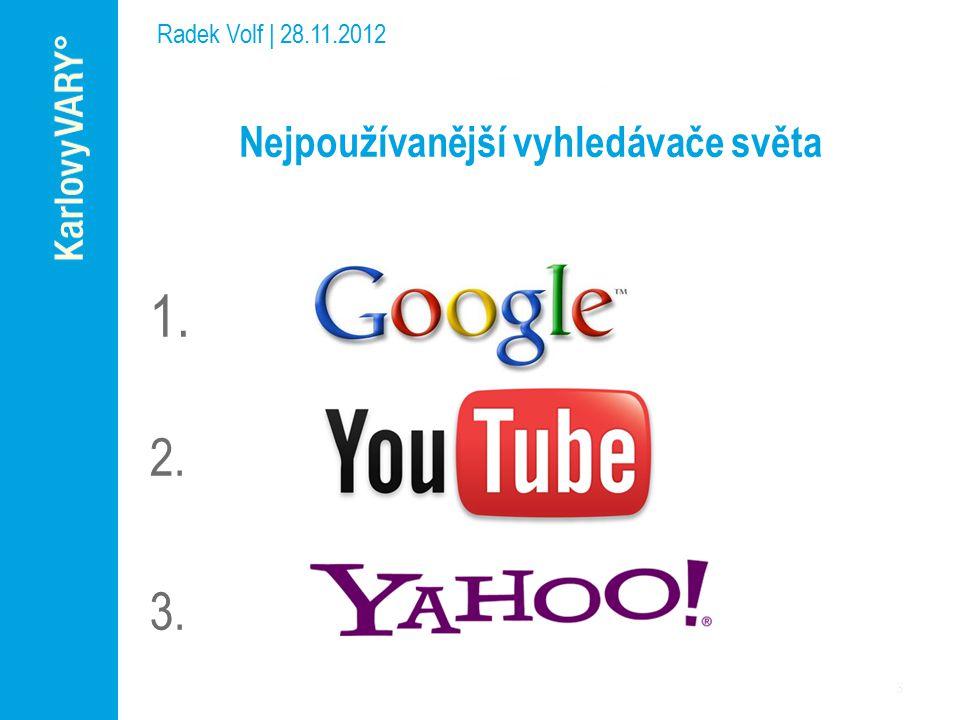 Nejpoužívanější vyhledávače světa 1. 2. 3.