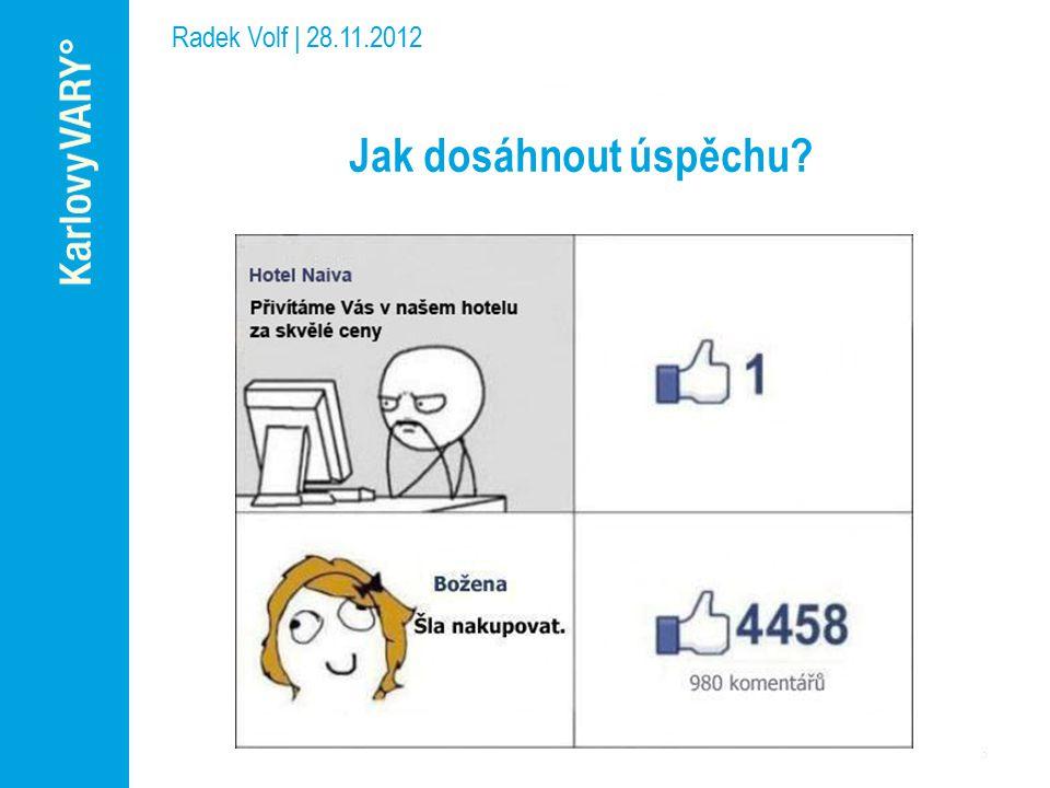 Radek Volf | 28.11.2012 Jak zvládnout sociální sítě.