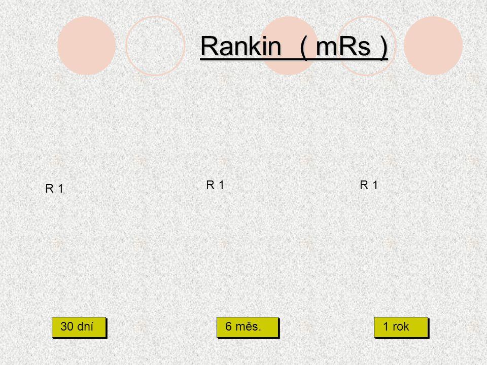 Rankin ( mRs ) 30 dní 6 měs. 1 rok R 1