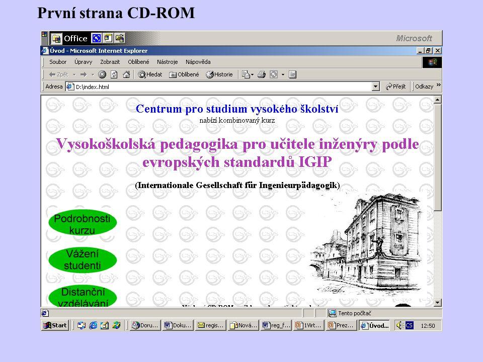 První strana CD-ROM