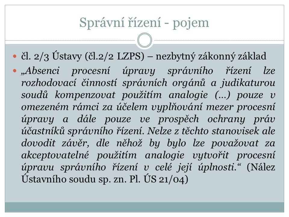 Správní řízení - pojem čl.