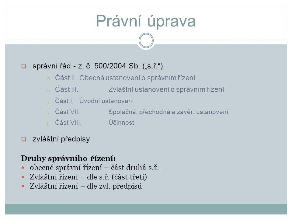 Procesní zásady 1.oficialita x dispozitivnost /§ 44 x § 46 x § 36/ 2.