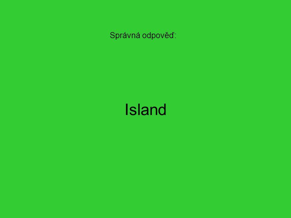 Správná odpověď: Island