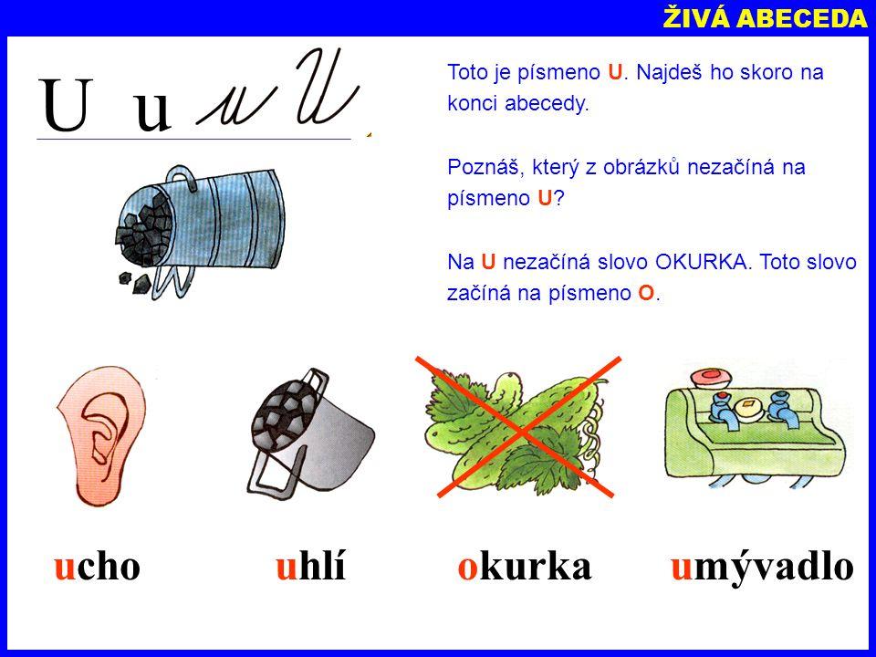 ŽIVÁ ABECEDA A a Poznáš toto písmeno? Je to písmeno A. A je první písmeno v abecedě. Zkus přečíst tato slova, která začínají na A. autoananasananasaut
