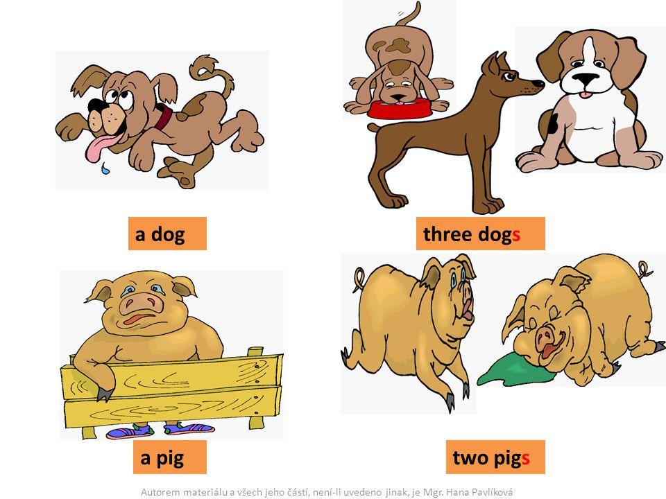 a dogthree dogs a pigtwo pigs Autorem materiálu a všech jeho částí, není-li uvedeno jinak, je Mgr. Hana Pavlíková