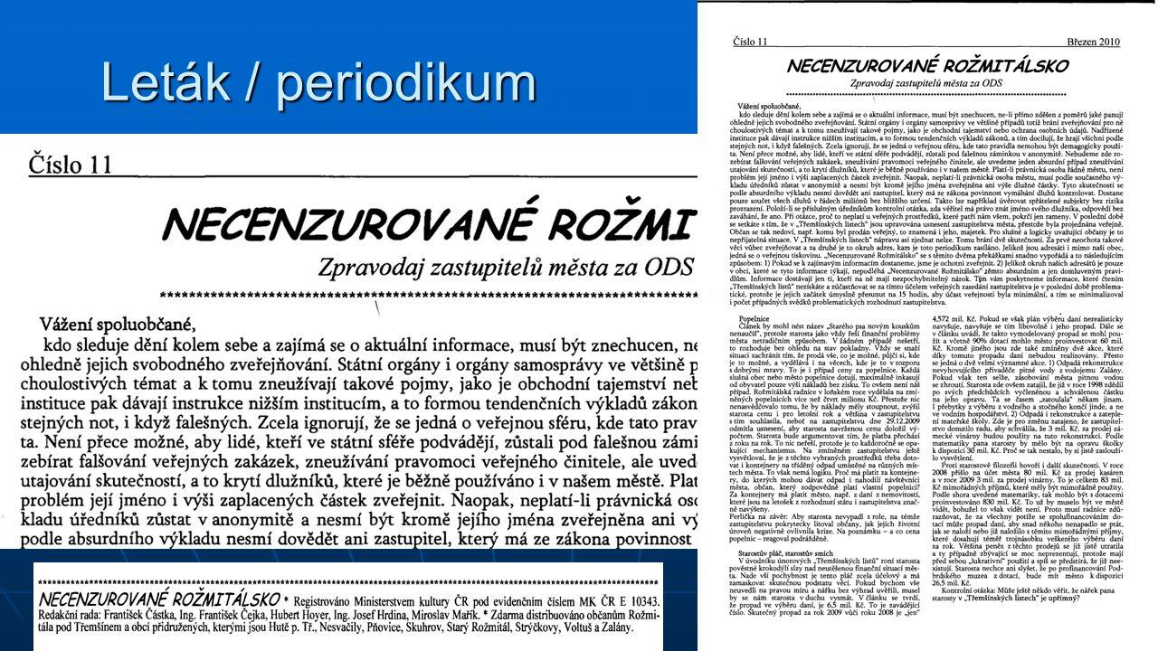Leták / periodikum