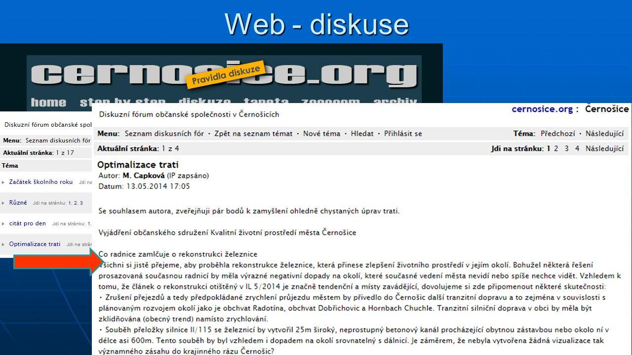 Web - diskuse