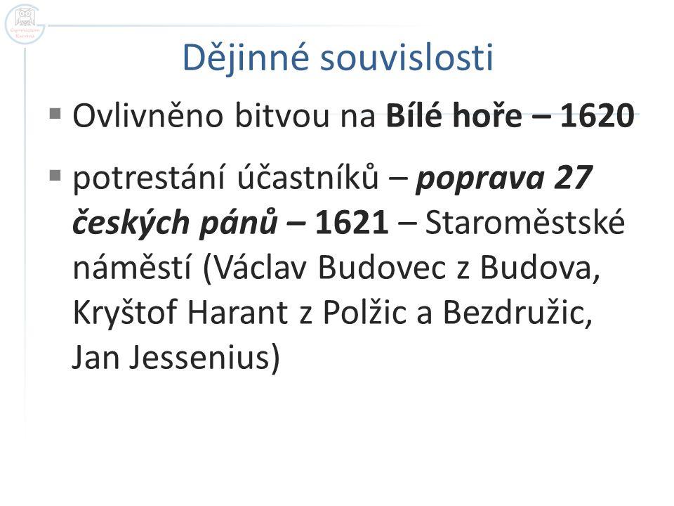 Poprava 27 českých pánů Autor: Neznámý Název: Hinrichtung auf dem Altstädter Ring.JPG Zdroj: http://cs.wikipedia.org/wiki/Soubor:Hinrichtung_auf_dem_Altstädter_Ring.JPG
